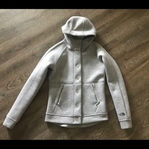 The North Face snap front hoody
